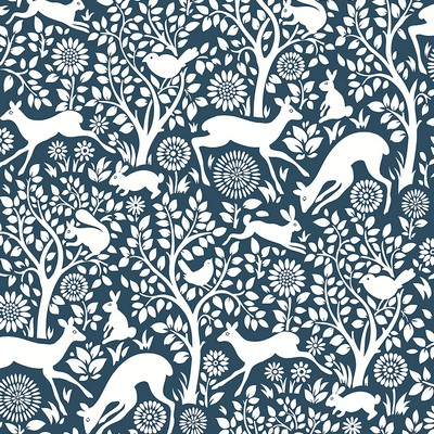 Brewster Wallcovering Meadow Navy Animals Wallpaper Navy Search Results