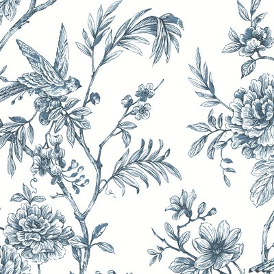 Brewster Wallcovering Jessamine Blue Floral Trail Wallpaper Blue Search Results