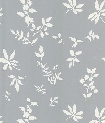 Brewster Wallcovering Botanique Silver Leaves Silver Traditional Flower Wallpaper