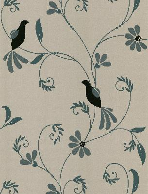 Brewster Wallcovering Perdiz Taupe Mod Bird And Floral Taupe Animals