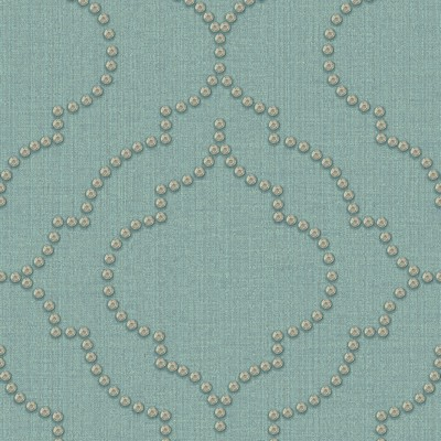 Brewster Wallcovering Chelsea Turquoise Quatrefoil Wallpaper Turquoise Modern Designs