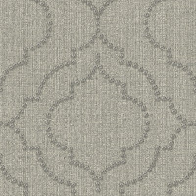Brewster Wallcovering Chelsea Grey Quatrefoil Wallpaper Grey Modern Designs