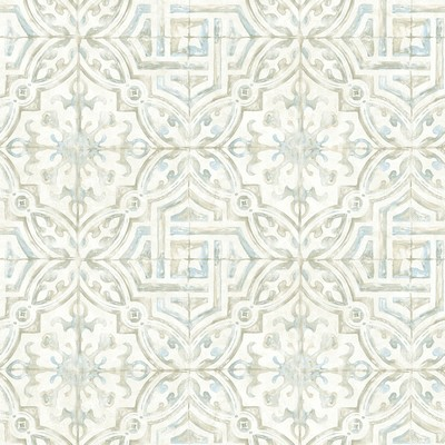 Brewster Wallcovering Sonoma Taupe Spanish Tile Wallpaper Taupe Ethnic and Global