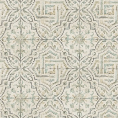 Brewster Wallcovering Sonoma Olive Spanish Tile Wallpaper Olive Ethnic and Global