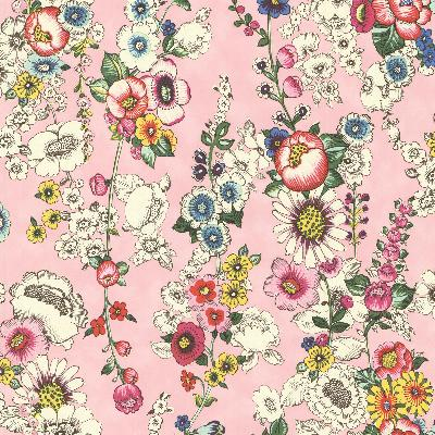 Brewster Wallcovering Eivissa Pink Vivid Floral Pink Search Results