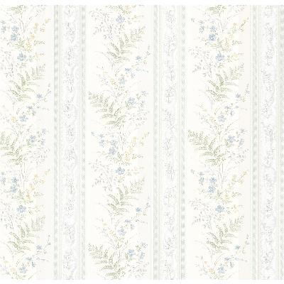 Brewster Wallcovering Bell Blue Wildflower Stripe Blue Search Results