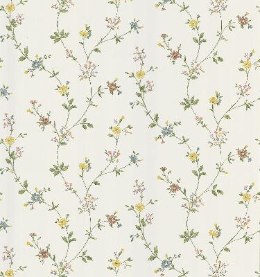 Brewster Wallcovering Daisy White Floral Trail White Traditional Flower Wallpaper