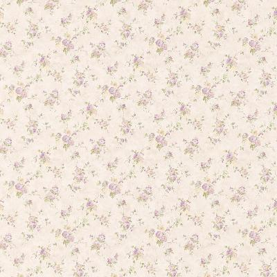 Brewster Wallcovering Genevieve Purple Floral Trail Purple Traditional Flower Wallpaper