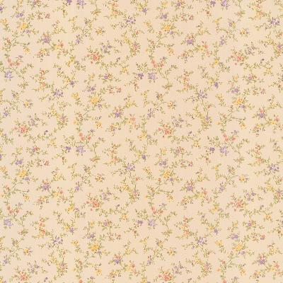 Brewster Wallcovering Susan Yellow Floral Trail Yellow Traditional Flower Wallpaper