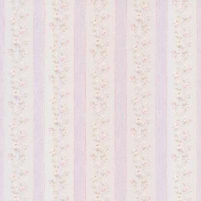 Brewster Wallcovering Emma lavender Floral Stripe Lavender Andover Miniatures IV