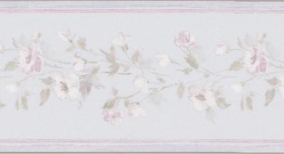 Brewster Wallcovering Lilah lavender Floral Border Lavender Traditional Flower Wallpaper