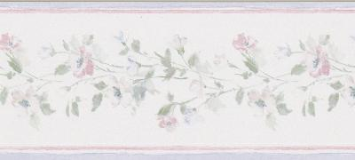 Brewster Wallcovering Lilah purple Floral Border Purple Wall Borders
