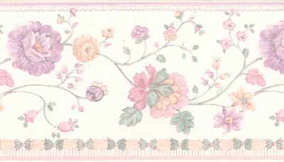 Brewster Wallcovering Erica lavender Floral Border Lavender Search Results