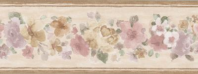Brewster Wallcovering Sylvie Brown Floral Border Brown Wall Borders