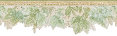 Brewster Wallcovering Acanthus Green Leaves Border Green Wall Borders