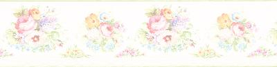 Brewster Wallcovering Vicky White Victorian Floral Border White Wall Borders