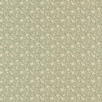 Brewster Wallcovering Vermont Green Small Daisy Green New Country