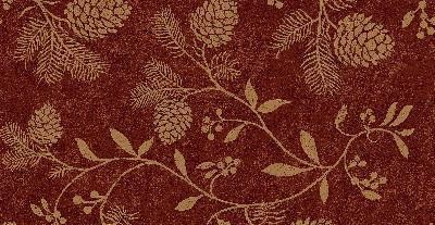 Brewster Wallcovering Ponderosa Red Pinecones Red New Country