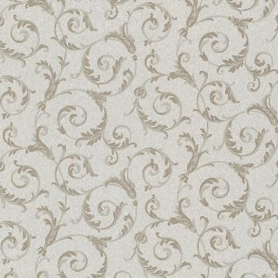 Brewster Wallcovering Eros Pewter Flowing Scroll Pewter Brewster Wallpaper