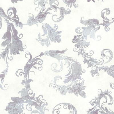Brewster Wallcovering Lana Lavender Scrolling Trail Lavender Brewster Wallpaper