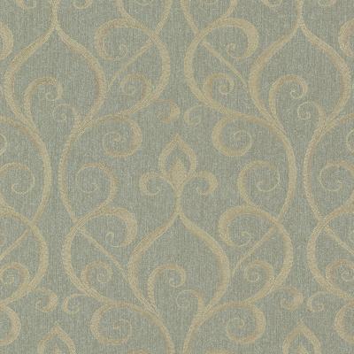 Brewster Wallcovering Demeter Green Glamorous Ogee Scroll Green Brewster Wallpaper