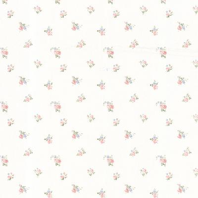 Brewster Wallcovering Debbie Blush Small Rose Toss Blush Traditional Flower Wallpaper