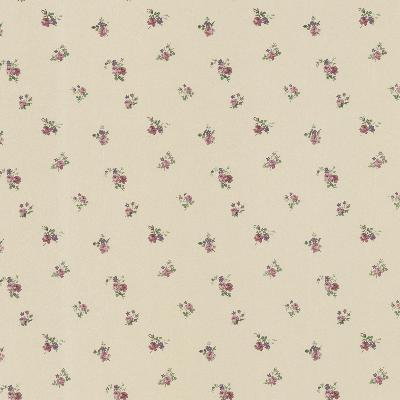 Brewster Wallcovering Debbie Mauve Small Rose Toss Mauve Traditional Flower Wallpaper