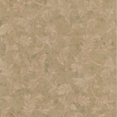 Mirage Totteridge Olive Leafy Scroll Olive Brewster Wallpaper
