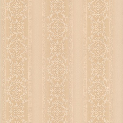 Mirage Camden Peach Ornate Stripe Peach Brewster Wallpaper