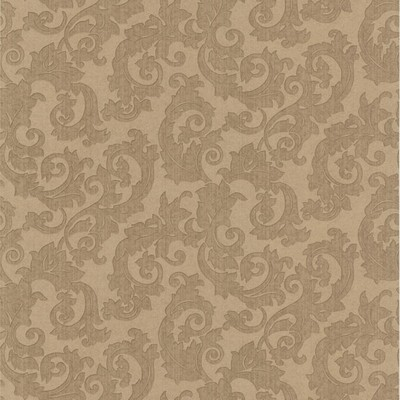 Mirage Fulham Brass Scrolls Brass Brewster Wallpaper