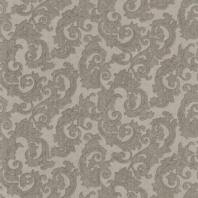 Mirage Fulham Silver Scrolls Silver Brewster Wallpaper