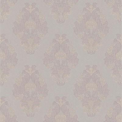 Mirage Bromley Mauve Satin Damask Mauve Brewster Wallpaper
