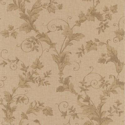 Mirage Thames Brass Leafy Scroll Brass Brewster Wallpaper