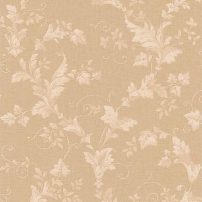 Mirage Thames Beige Leafy Scroll Beige Brewster Wallpaper