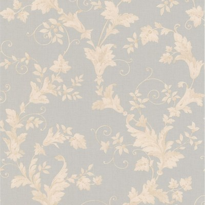 Mirage Thames Light Grey Leafy Scroll Light Grey Brewster Wallpaper