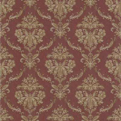 Mirage Westminster Burgundy Damask Burgundy Brewster Wallpaper