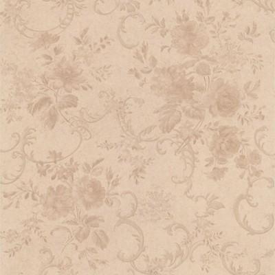 Mirage Highbury Champagne Floral Scroll Champagne Brewster Wallpaper