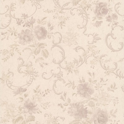 Mirage Highbury Mauve Floral Scroll Mauve Brewster Wallpaper