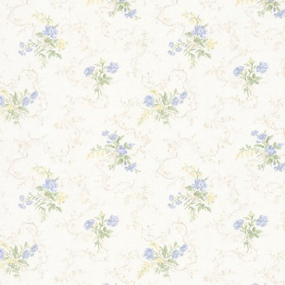 Mirage Marie Light Blue Delicate Floral Bouquet Light Blue Brewster Wallpaper