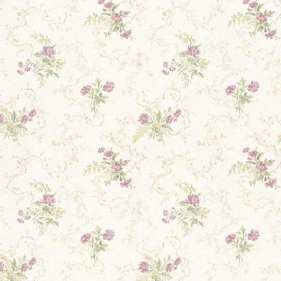 Mirage Marie Mauve Delicate Floral Bouquet Mauve Brewster Wallpaper