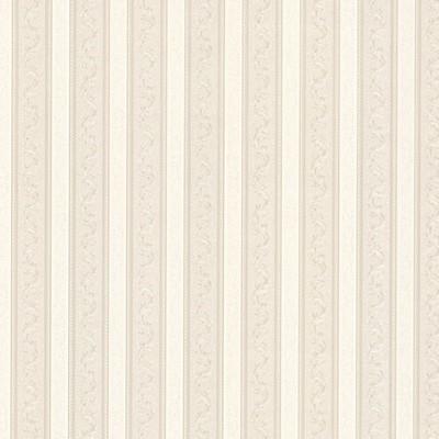 Mirage Kendra Neutral Scrolling Stripe Neutral Brewster Wallpaper