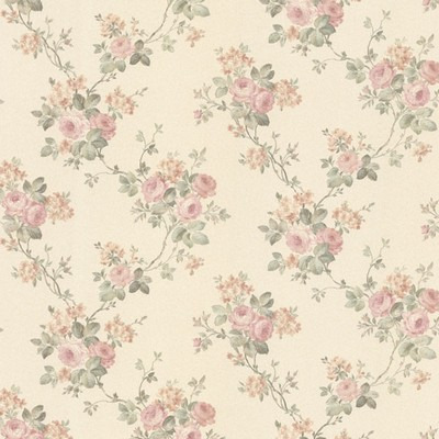 Mirage Kristin Blush Rose Trail Blush Brewster Wallpaper