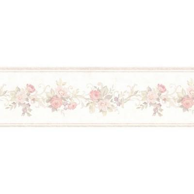 Mirage Lory Blush Floral Border Blush Wall Borders
