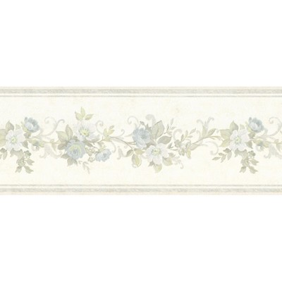 Mirage Lory Light Blue Floral Border Light Blue Wall Borders