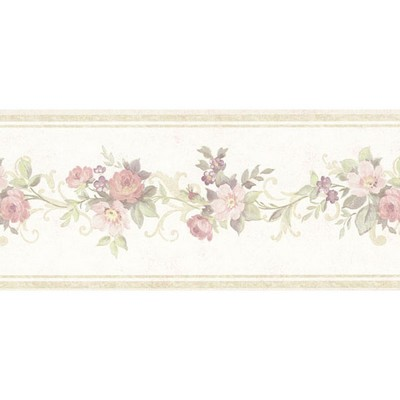 Mirage Lory Light Green Floral Border Light Green Wall Borders