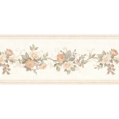Mirage Lory Peach Floral Border Peach Search Results