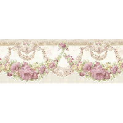 Mirage Marianne Mauve Floral Bough Border Mauve Wall Borders