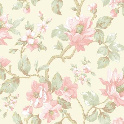 Brewster Wallcovering Berkin Olive Large Floral Vine Wallpaper Neutral Search Results