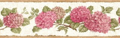 Brewster Wallcovering Red Hydrangea Border Red Kitchen and Bathroom Wallpaper Borders