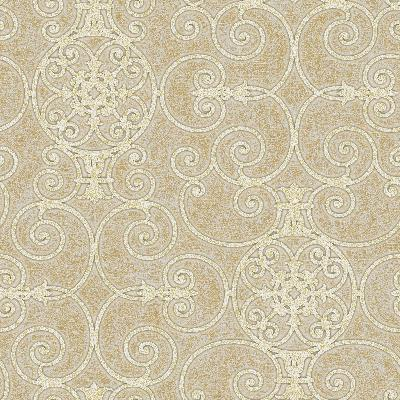 Brewster Wallcovering Gold Belleek Gold Ethnic and Global